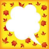 Jesieni mowy bąble Zdjęcia Royalty Free