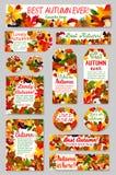 Jesieni natury etykietka i etykietka set dla sprzedaż projekta Zdjęcie Royalty Free