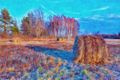 Jesieni natury krajobraz Obraz Stock