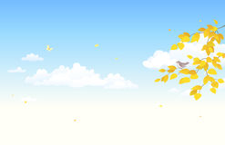Jesieni nieba tło Obrazy Stock