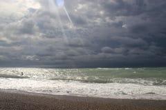 Jesieni niebo w Abkhazia Fotografia Stock