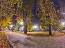 Jesieni noc fotografia stock