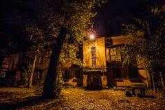 Jesieni nocy podwórze przy Voronezh Zdjęcie Royalty Free