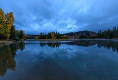 Jesieni odbicie w Tetons Fotografia Stock