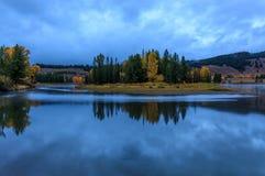 Jesieni odbicie w Tetons przy wschodem słońca Zdjęcia Royalty Free
