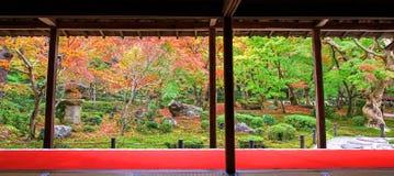 Jesieni Ogrodowy sceniczny przy Enkoji świątynią, Kyoto Zdjęcie Royalty Free