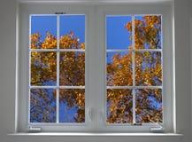 jesienią okno Fotografia Stock