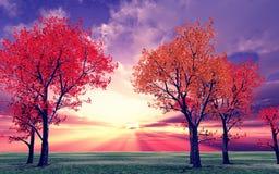 jesienią otoczenia Zdjęcia Stock