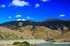 Jesieni piękno Qinghai Tybet plateau Zdjęcia Stock