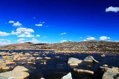 Jesieni piękno Qinghai Tybet plateau Fotografia Royalty Free