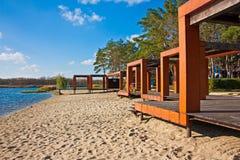 Jesieni plaża Fotografia Stock
