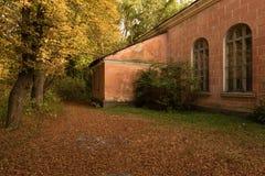 Jesieni podwórze Zdjęcia Stock