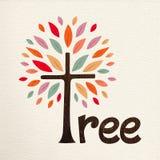 Jesieni pojęcia teksta drzewna wycena dla natury ilustracja wektor