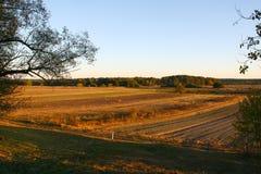 Jesieni pola w Lithuania, Europa obraz stock