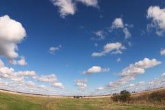 jesienią pole Fotografia Stock