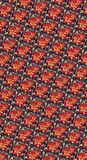 Jesieni Pomarańczowej rewolucjonistki i złoto róży wzór Obraz Royalty Free