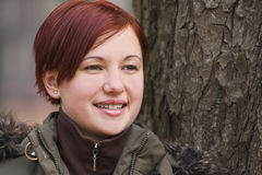jesienią portret dziewczyny Zdjęcie Stock