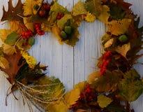 Jesieni ramowy serce Obrazy Stock