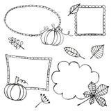 Jesieni ramy Zdjęcie Stock