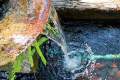 Jesieni rill przepływ Natury siklawa - wizerunku tło obrazy royalty free