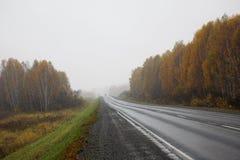 jesienią road Obrazy Stock