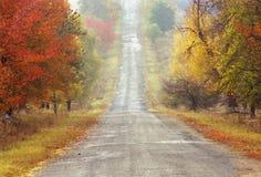 jesienią road obraz stock