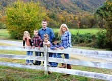 Jesieni rodziny czas Zdjęcia Royalty Free