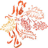 Jesieni rowan drzewo Obraz Stock