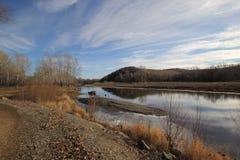 Jesieni rzeka Zdjęcie Royalty Free