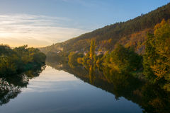 Jesieni rzeka Obraz Stock