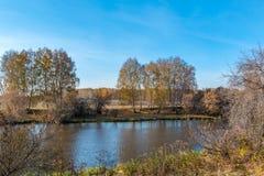 Jesieni rzeki krajobraz Obraz Stock