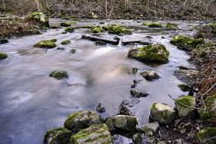 Jesieni rzeki krajobraz obrazy stock
