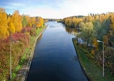 Jesieni rzeki scena Fotografia Royalty Free