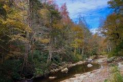 Jesieni scena w Minnewaska stanu parka prezerwie w Nowy Jork zdjęcia stock
