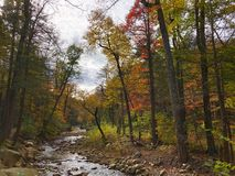 Jesieni scena w Minnewaska stanu parka prezerwie w Nowy Jork obraz royalty free