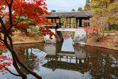 Jesieni sceneria piękny W Cesarskiej willi Shugakuin Rikyu Fotografia Royalty Free