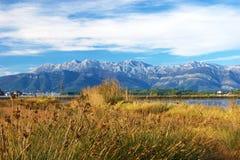Jesieni sceneria rezerwat przyrody Tivat Fotografia Stock