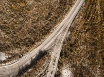 Jesieni sceneria wiejska droga Obraz Royalty Free