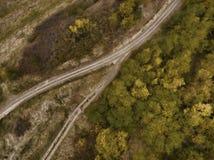 Jesieni sceneria wiejska droga Zdjęcie Royalty Free