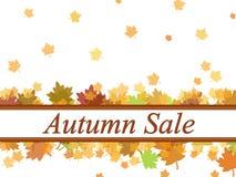 Jesieni sprzedaż opuszcza tło fotografia stock