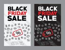 Jesieni sprzedaż pięćdziesiąt procentów wektoru ilustracja Rabaty w sklepu czerni Piątek obrazy stock