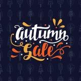 Jesieni sprzedaży literowanie, nowożytna kaligrafia Obraz Royalty Free