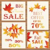 Jesieni sprzedaży plakat ilustracja wektor