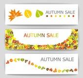 Jesieni sprzedaży sztandary Zdjęcia Stock