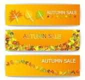 Jesieni sprzedaży sztandary Obrazy Stock