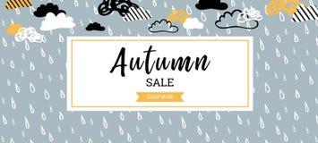 Jesieni sprzedaży tła sztandar dla robić zakupy plakat, ramy sieć i ulotkę sprzedaży lub promo lub sztandar również zwrócić corel Ilustracji