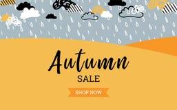 Jesieni sprzedaży tła sztandar dla robić zakupy plakat, ramy sieć i ulotkę sprzedaży lub promo lub sztandar również zwrócić corel Ilustracja Wektor