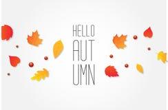 Jesieni sprzedaży tła układ dekoruje z liśćmi dla robić zakupy ilustracja wektor