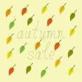 Jesieni sprzedaży tło Zdjęcia Stock
