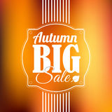 Jesieni sprzedaży wektorowy retro plakat Zdjęcie Stock